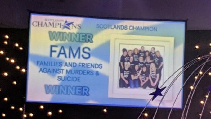 FAMS Awards sign